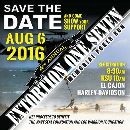 4th Annual Extortion One Seven Memorial Poker Run - Navy